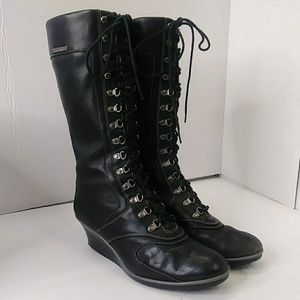 Timberland Women's 9 M Tall Boots Black Leather